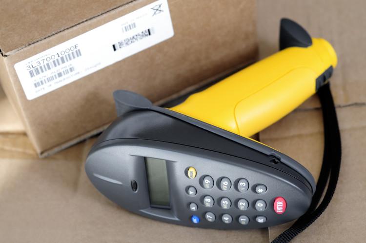 Bild Paket und Barcode Scanner